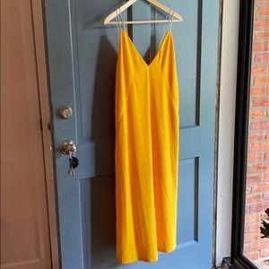 NWT Zara Yellow Slip Dress - Medium